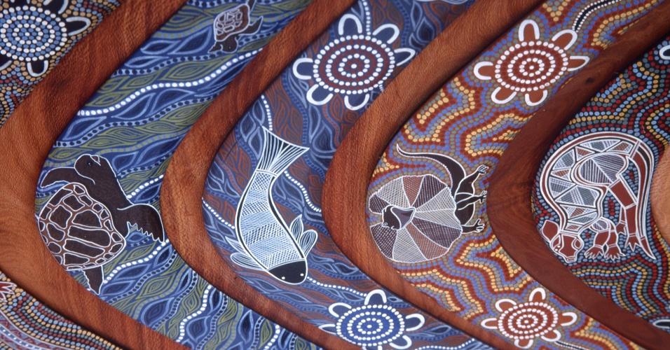 Arte aborígene, povo nativo da Austrália que hoje representa apenas 1,5% da população do país