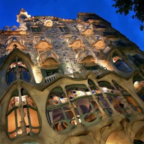 Detalhe da Casa Batló,  em Barcelona