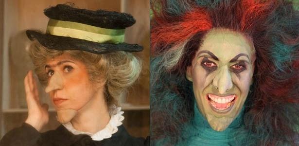 """Maria Clara Gueiros interpreta Miss Gulch e Bruxa Má do Oeste em """"O Mágico de Oz"""" (2012) - Maria Elisa Franco/UOL/Divulgação"""