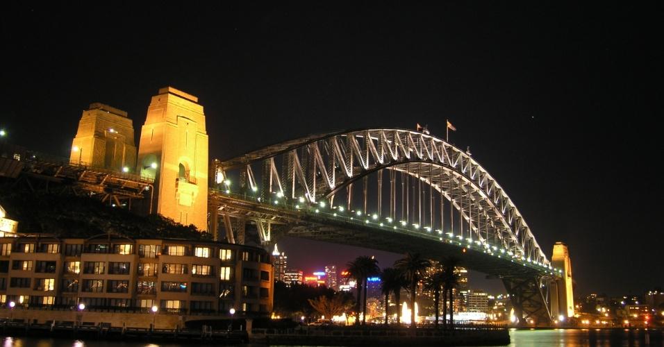 Ponte Harbour, em Sydney, cidade mais populosa da Austrália