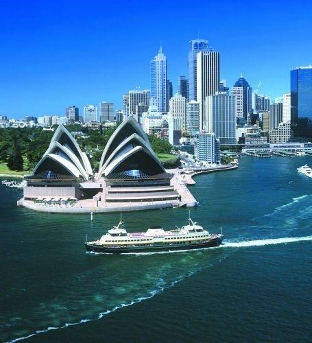 Vista da baía de Sydney, a cidade mais populosa da Austrália