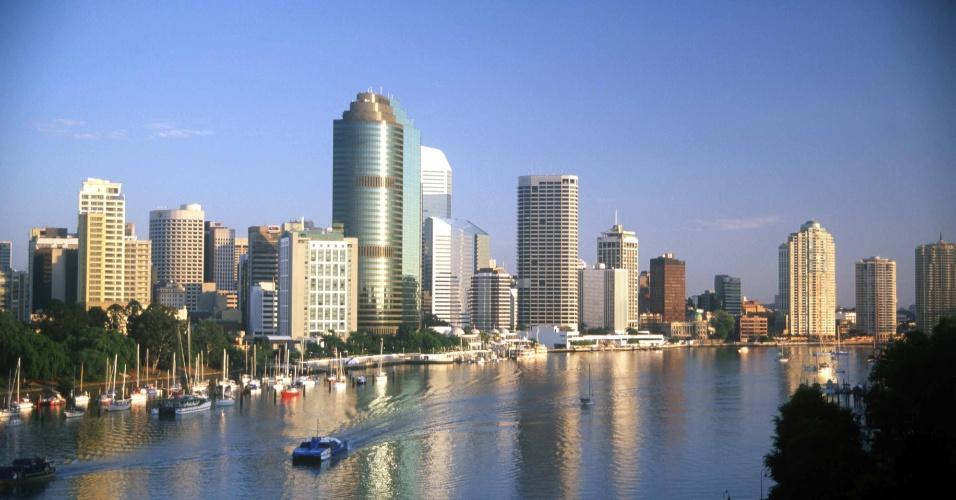 Vista panorâmica de Brisbane, capital do Estado de Queensland e uma das maiores cidades da Austrália