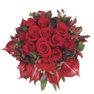 Buquês com rosas importadas, miniantúrios e impericum; por R$ 340, na Flor & Forma (www.floreforma.com.br). Preço consultado em julho de 2012 e sujeito a alterações  - Flor & Forma/Divulgação