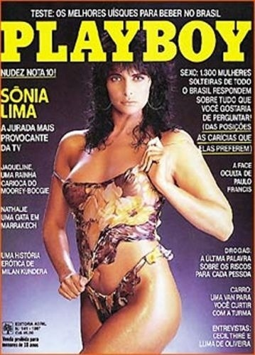"""Capa da """"Playboy"""" com Sonia Lima (1987)"""