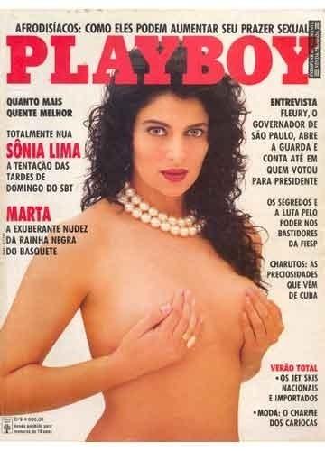 """Capa da """"Playboy"""" com Sônia Lima (1991)"""