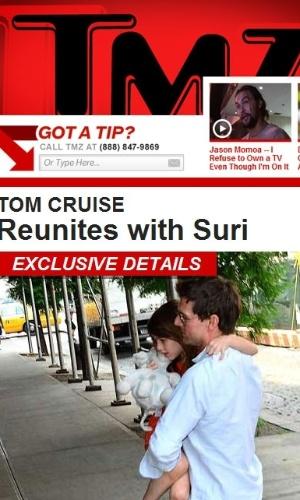 Site TMZ mostra Tom Cruise encontrando a filha, Suri, pela primeira vez após a separação de Tom e Katie Holmes