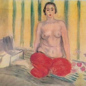 """A pintura """"Odalisca com Calça Vermelha"""", de Henri Matisse - AP"""
