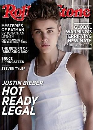 """Justin Bieber é capa da edição de 20 de julho da revista norte-americana """"Rolling Stone"""""""