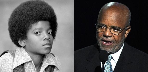 O produtor Berry Gordy (dir.) procura um ator para interpretar Michael Jackson quando criança - Divulgação/Gabriel Bouys-Pool/Getty Images