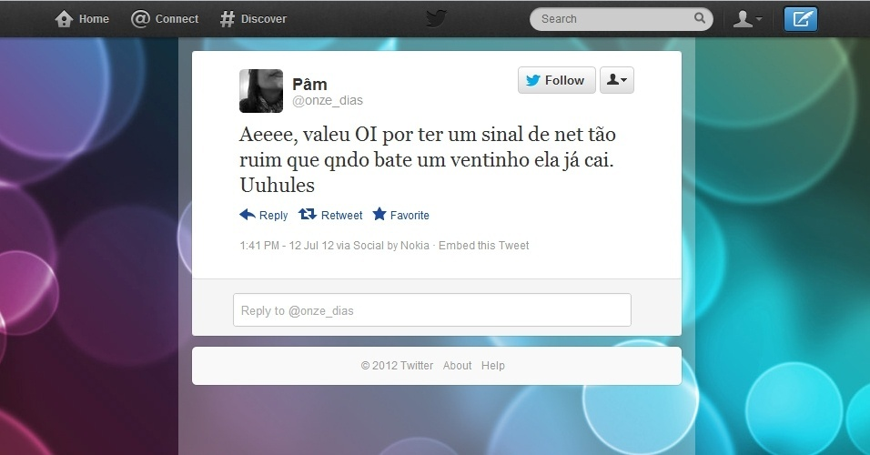 Piadas no Twitter reclamam de serviços da TIM, Oi e Claro