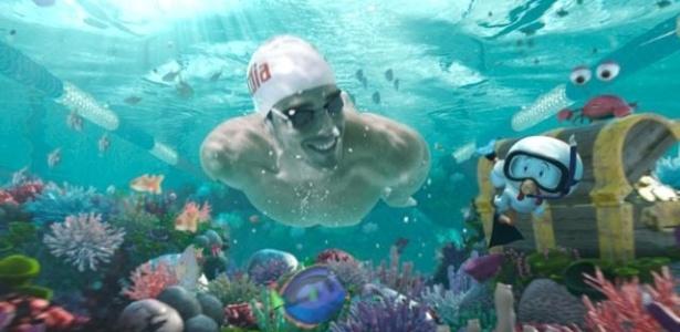 Bruno Fratus mergulha em recife de coral em comercial da Sadia