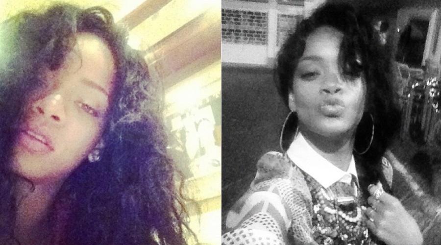Descabelada, Rihanna divulgou uma imagem por meio de sua página do Twitter (19/7/12)