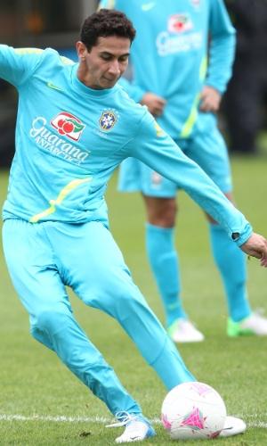 Paulo Henrique Ganso também treinou finalizações com a seleção brasileira nesta quinta-feira, no CT do Arsenal