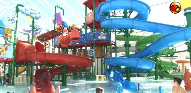 O parque aquático do Cascão, inaugurado em julho, tem opções tranquilas ou radicais, pra todos os gostos