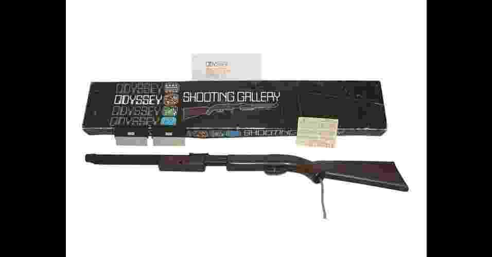 """A espingarda do Odyssey é considerada a primeira pistola """"de luz"""" dos consoles domésticos - Divulgação"""