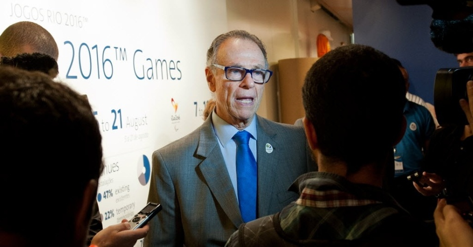 Carlos Arthur Nuzman, presidente do COB, na abertura da exposição