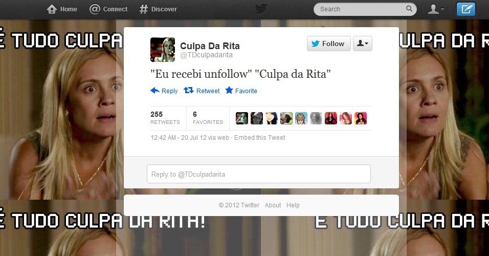 ''Culpa da Rita'' invade redes sociais