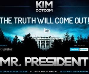 Kim Dotcom canta música para Obama