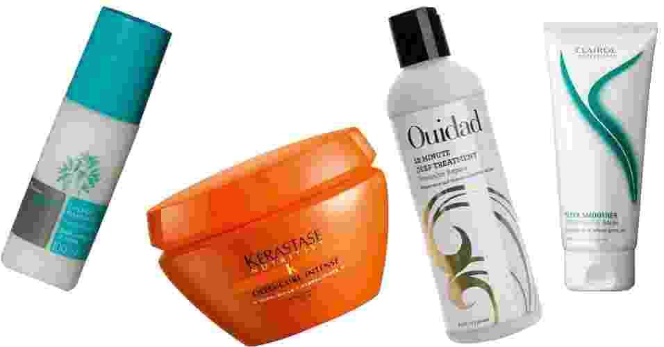 Montagem produtos para cabelos cacheados - Divulgação