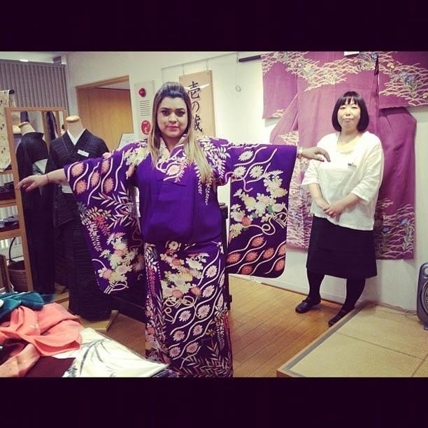 Preta Gil compra quimono em Tóquio e divulga imagem no Twitter (20/7/2012)