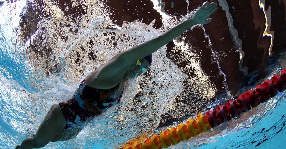 Joanna Maranhão faz treino de preparação para as Olimpíadas em Crystal Palace