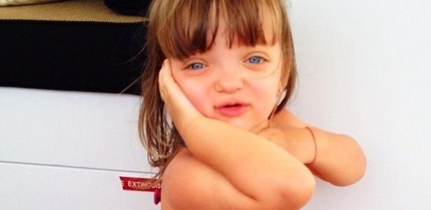 Ticiane Pinheiro publicou uma foto da filha, Rafaela Justus em comemoração ao terceiro aniversário da menina.