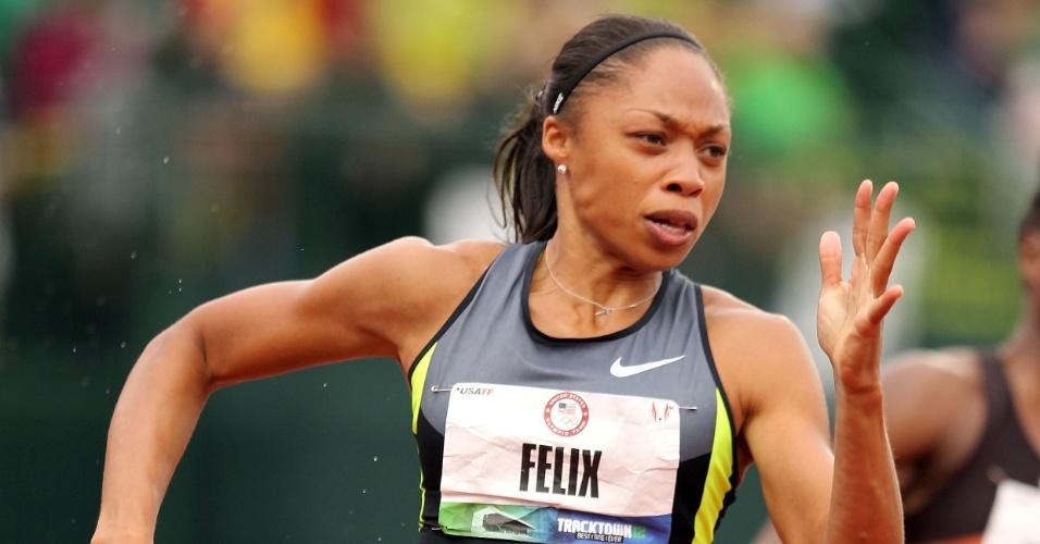 Allyson Felix vence seletiva norte-americana dos 200m e estará em Londres-2012