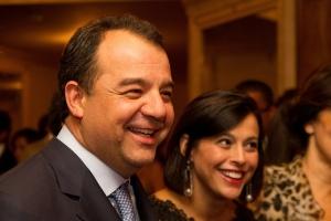 O ex-governador Sérgio Cabral com sua mulher, Adriana Ancelmo