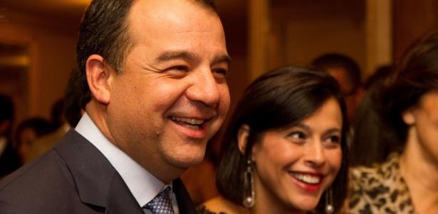 O governador Sérgio Cabral e sua mulher Adriana Ancelmo