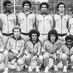 Seleção Brasileira, com Edinho, Júnior e Batista, que disputou os jogos Olímpicos de Montreal, em 1976