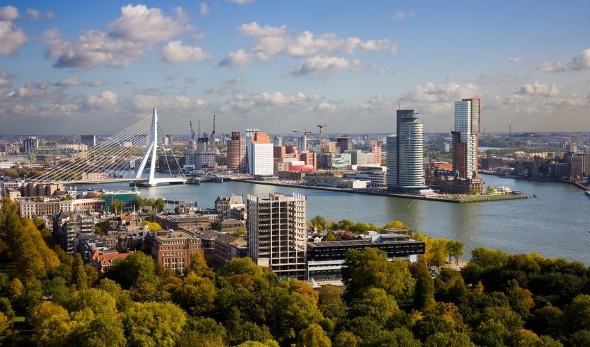 Vista área da cidade de Roterdã