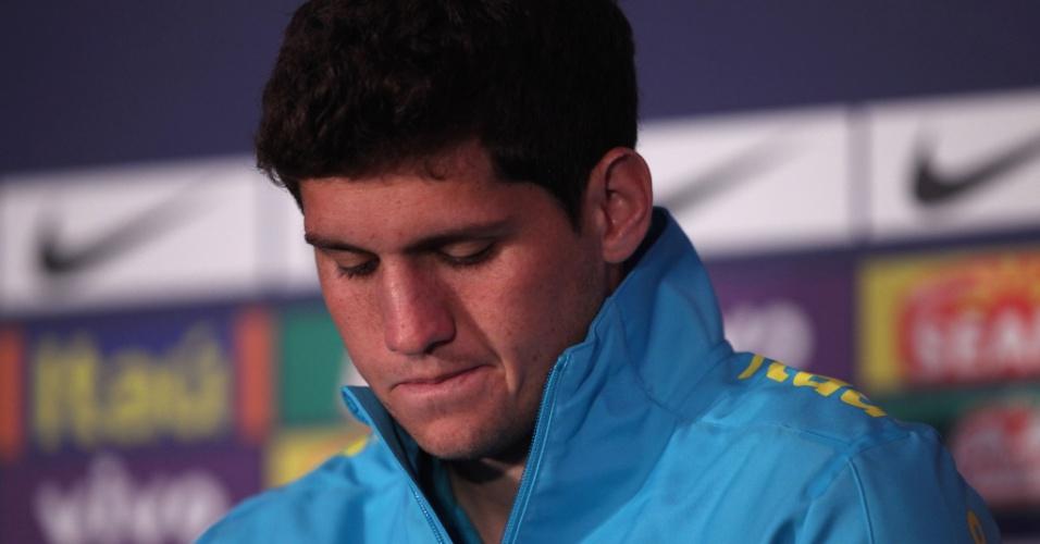Abatido, Rafael participou de entrevista coletiva após corte da seleção olímpica