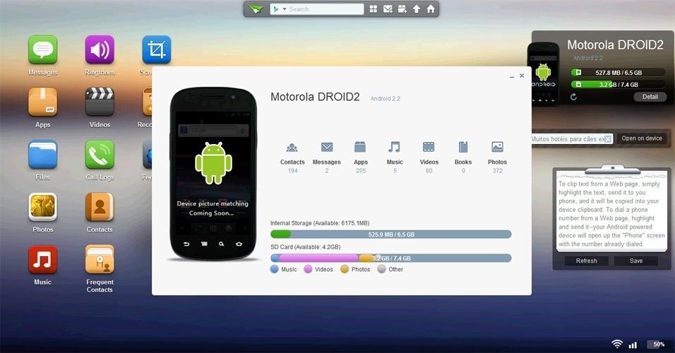 AirDroid permite transferir arquivos do computador para o celular via Wi-Fi