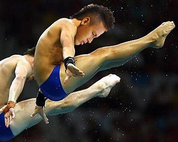 Com fama de cai-cai, Neymar aparece em montagem como atleta dos saltos ornamentais