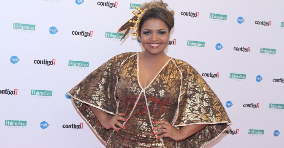Gaby Amarantos, que fechou a noite de apresentações no Prêmio Contigo!, entregue nesta segunda-feira no RJ (23/07/12)