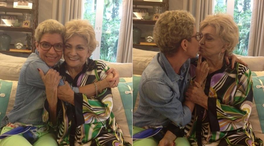 Hebe Camargo recebeu a visita de Astrid Fontenelle em sua casa, em São Paulo, nesta terça (24/7/12)