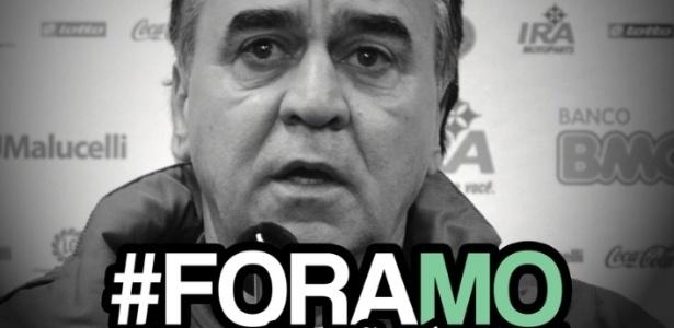 Imagem de uma campanha que pede a saída de Marcelo Oliveira do Coritiba (24/07/2012)