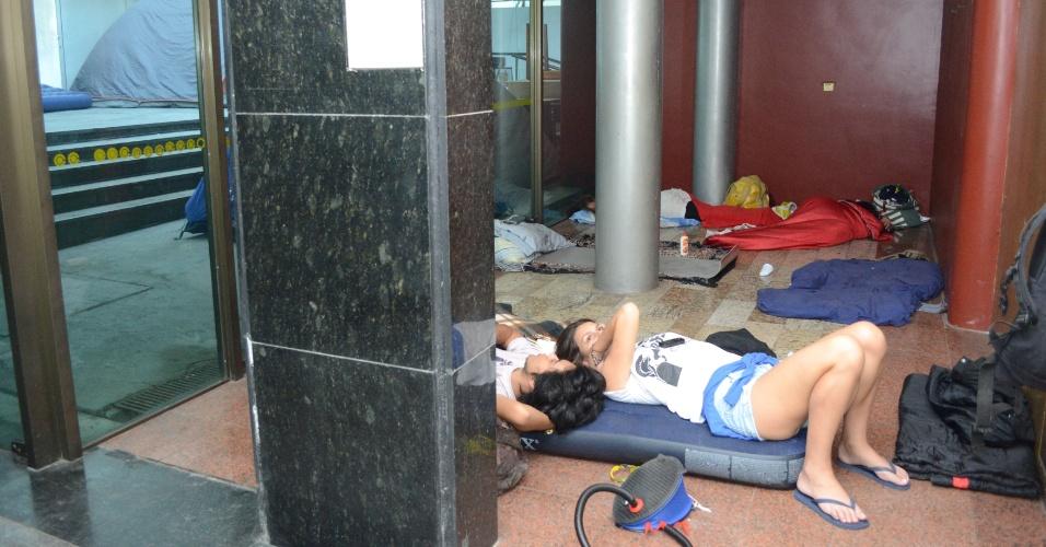 Estudantes da UFRJ (Universidade Federal do Rio de Janeiro) ocupam o imóvel onde ficava o Canecão, em Botafogo, zona sul do Rio de Janeiro, desde a noite de ontem (24). Os alunos estão em greve e exigem ser recebidos pela reitoria da instituição