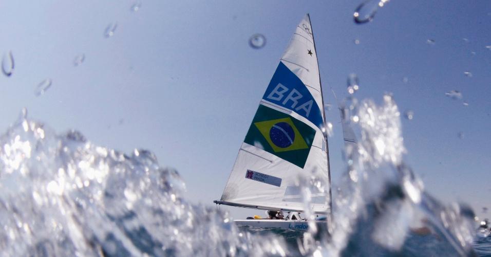 Robert Scheidt e Bruno Prada realizam treino para Jogos Olímpicos de Londres (25/07/12)