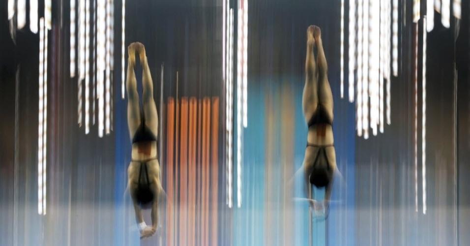 Competidores de saltos ornamentais treinam antes da estreia nos Jogos Olímpicos