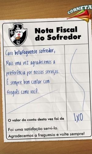 Corneta FC: Compartilhe a nota fiscal do botafoguense sofredor