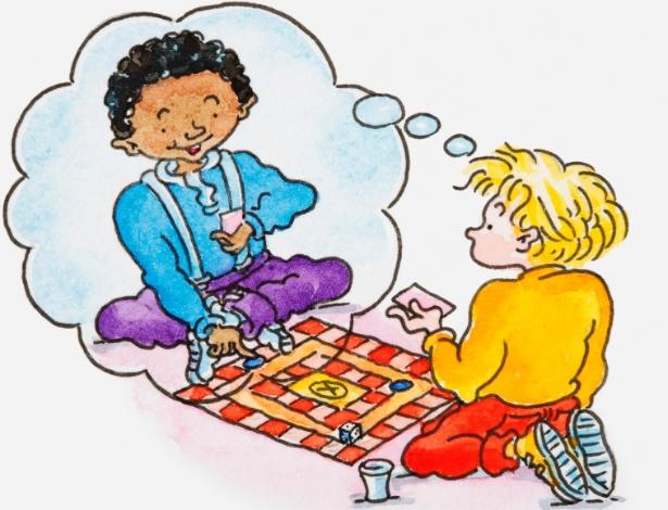 Não censure a criança que demonstra ter um amigo imaginário; é saudável fantasias nesta fase - Thinkstock