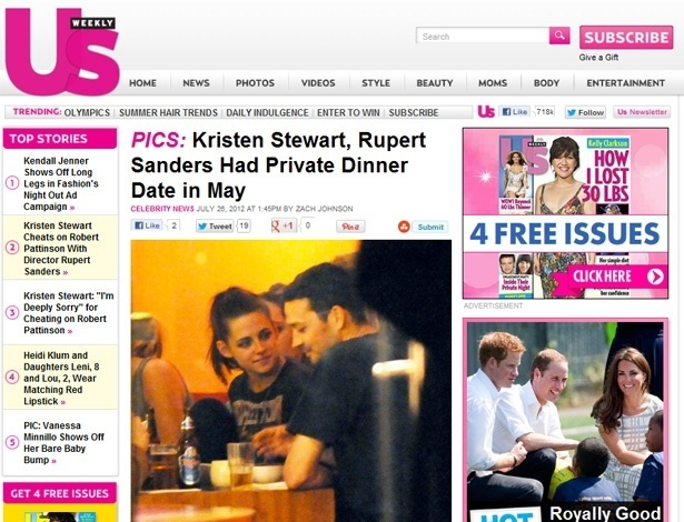 Kristen Stewart e Rupert Sanders em jantar em Berlim em março