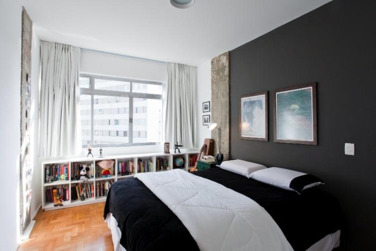Apê de 43 m² ganha amplitude ao integrar espaços e preservar piso ...