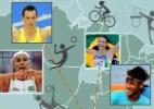 Saiba onde nasceram os atletas olímpicos do Brasil - Arte UOL
