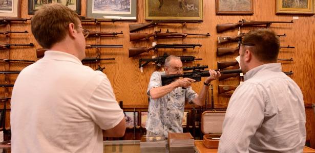 Loja de armas em Atlanta, na Geórgia