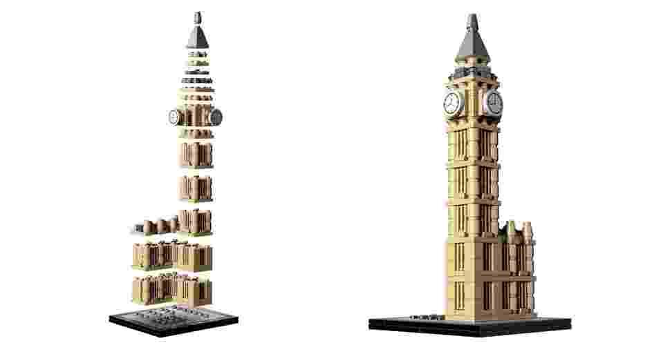 """A Lego (http://architecture.lego.com) recria em miniatura ícones da arquitetura em duas séries de produtos a """"Landmark"""", que conta com monumentos e construções turísticas - como a Casa Branca e o Big Ben - e a """"Architect"""", que reúne exemplares de casas e prédios de grandes nomes da arquitetura como Mies van der Rohe e Frank Lloyd Wright    - Montagem/ Divulgação"""
