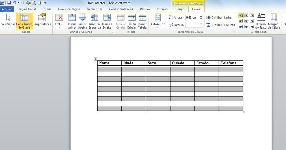 Aprenda a criar tabelas no Word