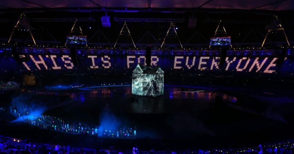 """Londres manda mensagem """"Isso é para todos"""" durante abertura dos Jogos Olímpicos"""