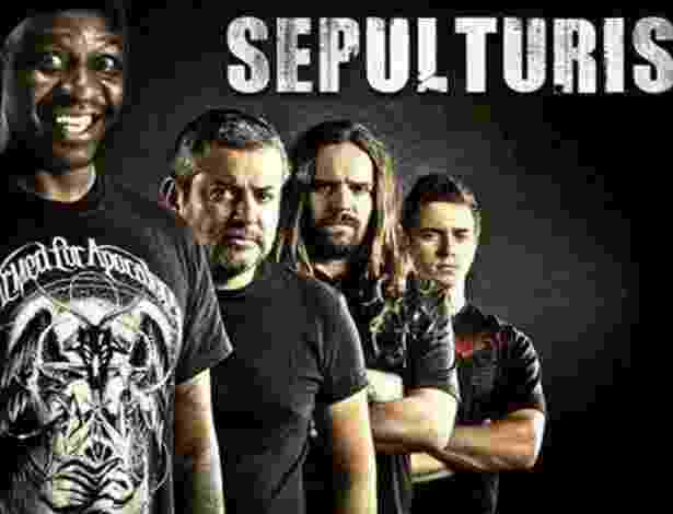 Mussum à frente do Sepulturis, sua bandis de metalis - Reprodução